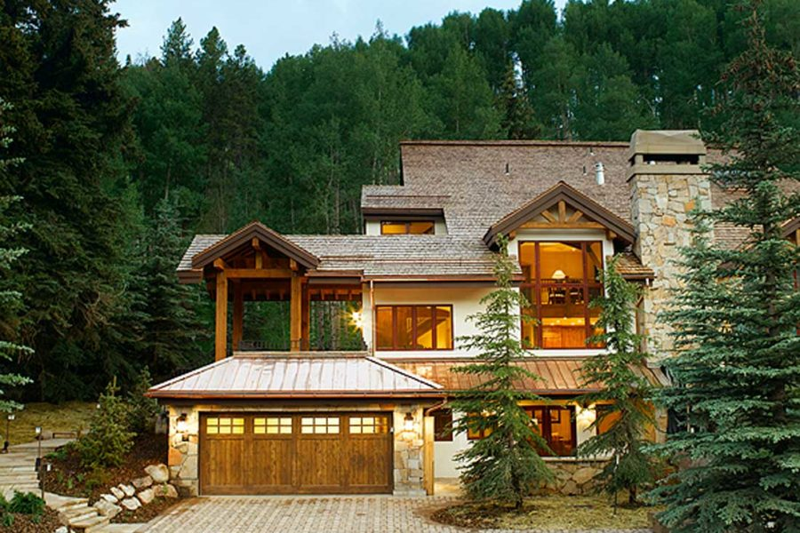 Exterior and driveway 600 Forest Road, Vail, Colorado