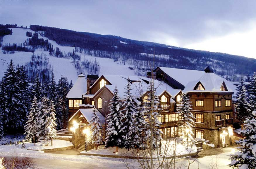winter scene at Vail Mountain Lodge & Spa, Vail, Colorado