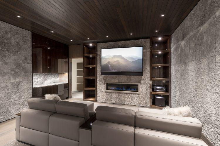 Movie room at 463 Beaver Dam Road in Vail
