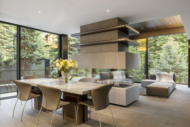 Dining and living areas in 463 Beaver Dam Road in Vail