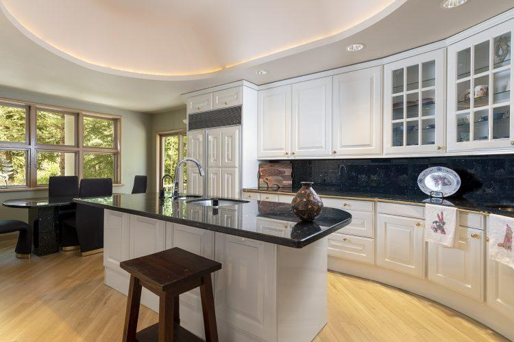 Kitchen and island in Vail's 4249 Nugget Lane