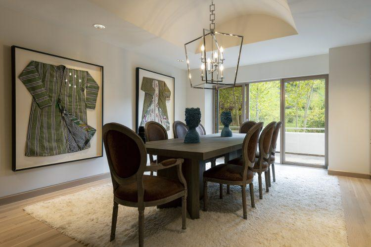 Dining area inside Vail's 4249 Nugget Lane