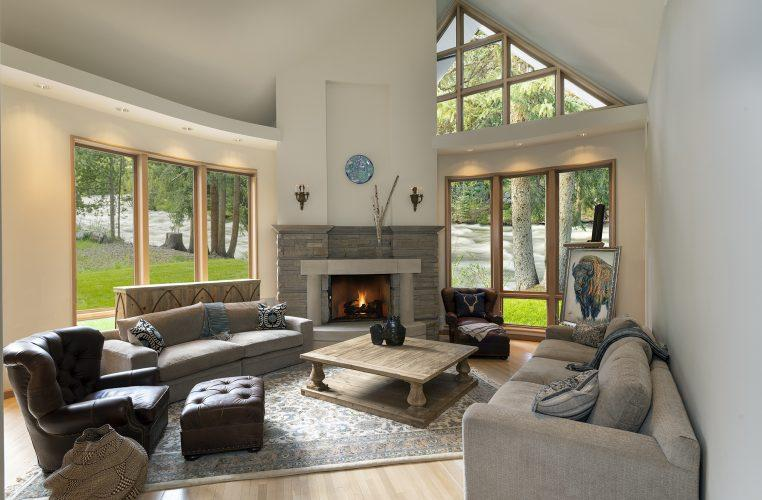 Living area inside Vail's 4249 Nugget Lane