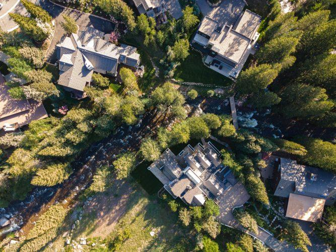 Vail's 4249 Nugget Lane direct overhead view