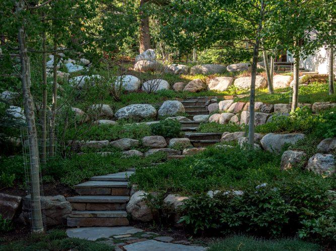 Stone steps outside Vail's 4249 Nugget Lane