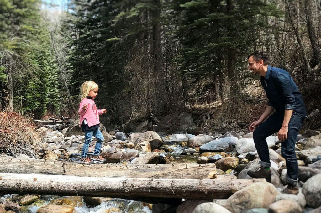 Father and daughter in Vail