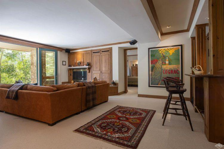 living area at 1058 Riva Glen above Vail Village