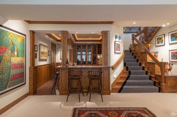 dining area and stairs at 1058 Riva Glen above Vail Village