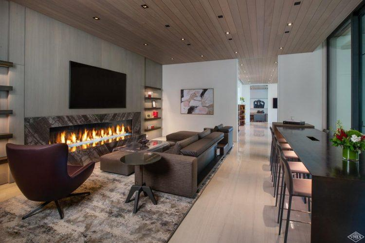 165 Forest Road on Vail Mountain: interior fireplace