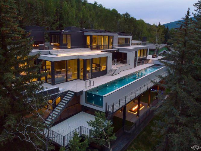 165 Forest Road on Vail Mountain: exterior view from above
