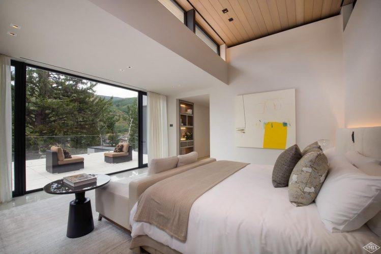 165 Forest Road on Vail Mountain: bedroom with patio
