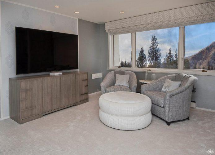 living room at 44 Meadow Drive in Vail Village