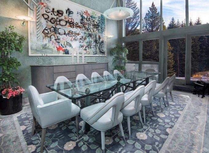 dining room at 44 Meadow Drive in Vail Village