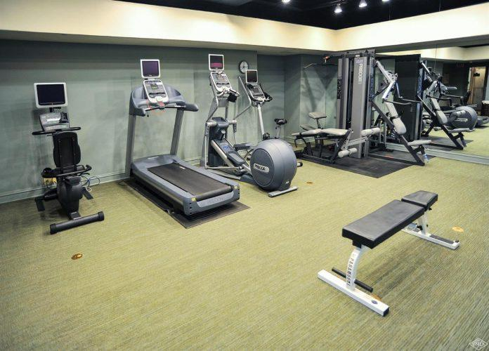 exercise room at 292 Meadow Drive in the heart of Vail Village