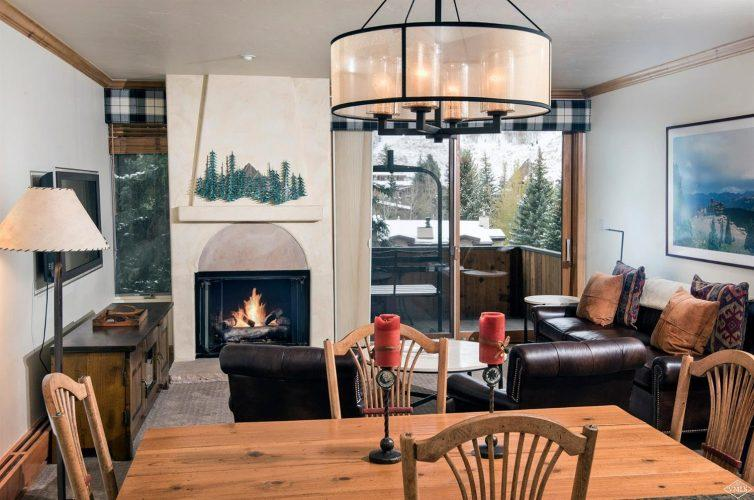 dining area at 292 Meadow Drive in the heart of Vail Village