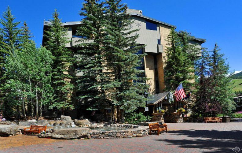 building exterior at 292 Meadow Drive in the heart of Vail Village