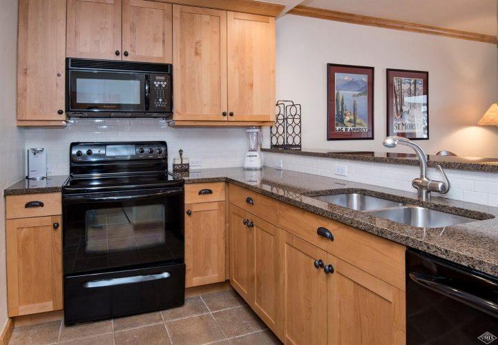 kitchen at 292 Meadow Drive in the heart of Vail Village