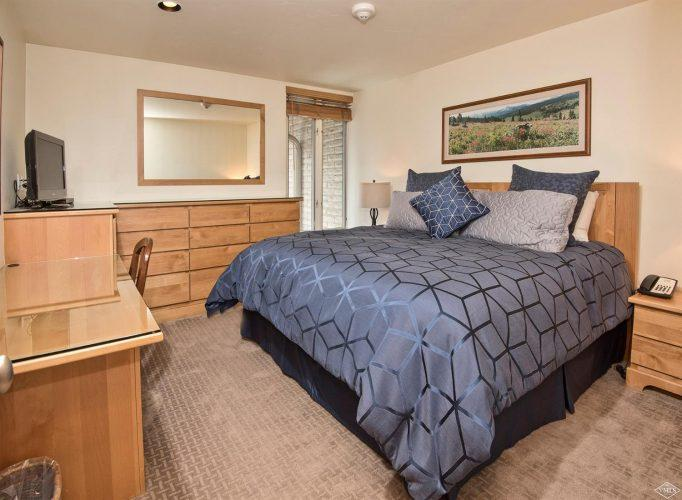 bedroom at 292 Meadow Drive in the heart of Vail Village