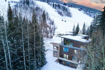 exterior overhead photo at 332 Mill Creek Circle in Vail Village