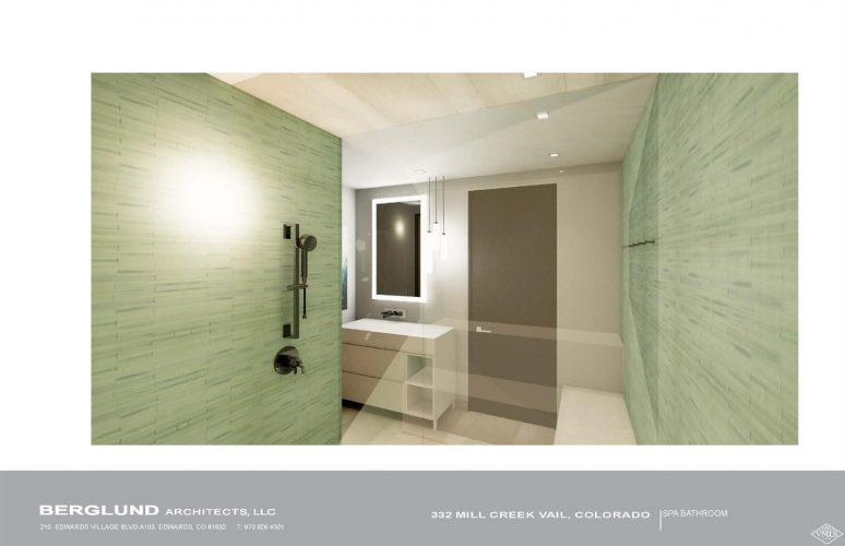 Berglund Architects interior bathroom: 332 Mill Creek in Vail, CO