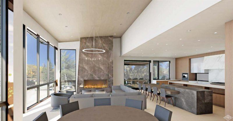 living and dining areas at 332 Mill Creek Circle in Vail Village