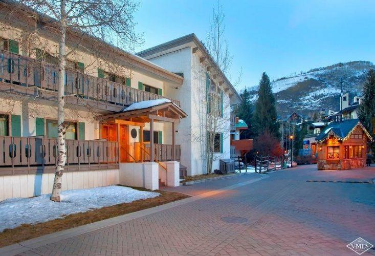exterior street view at 133 Willow Bridge Road in the heart of Vail Village